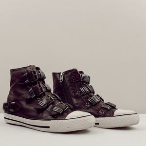 ash vodka leather high top sneakers